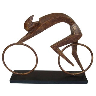 Brustlist-Style Bicyclist Sculpture