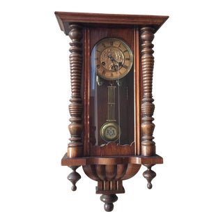 1880's Grunderzeit Antique German Box Clock