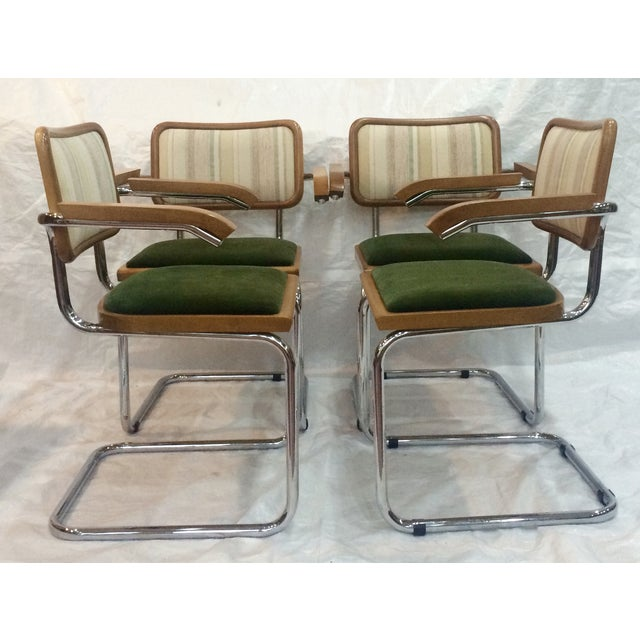 marcel breuer cesca chairs by knoll set of 4 chairish. Black Bedroom Furniture Sets. Home Design Ideas