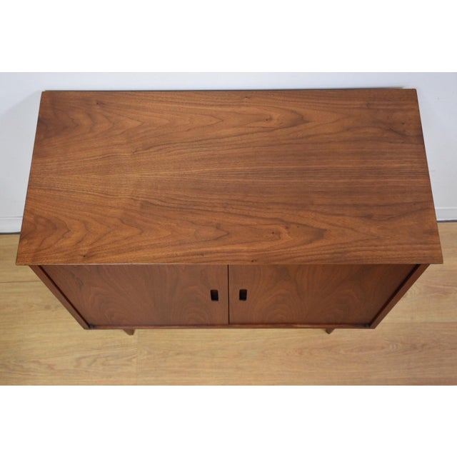 Mid-Century Modern Walnut Bar Cabinet - Image 6 of 8