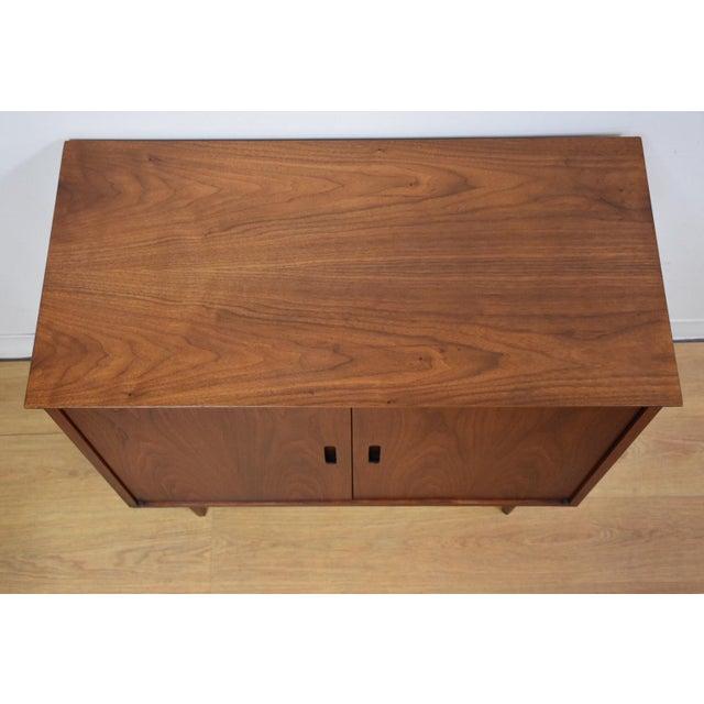 Image of Mid-Century Modern Walnut Bar Cabinet