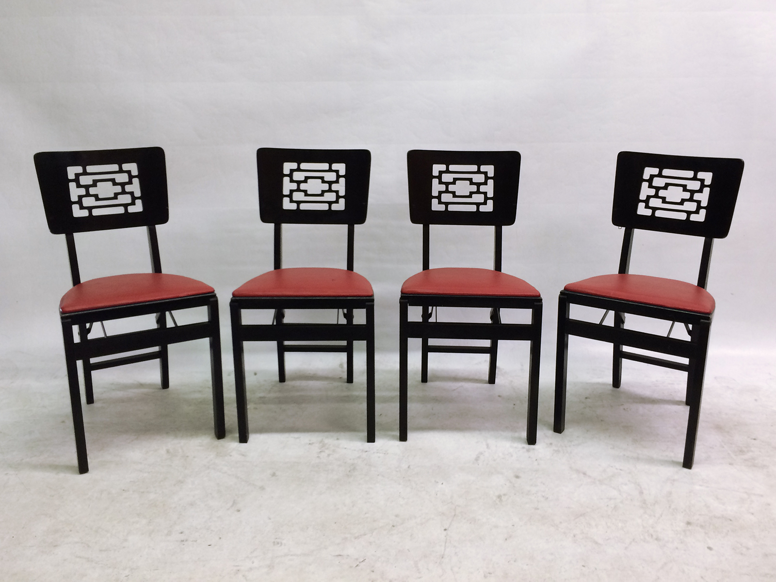 stakmore folding furniture chairs set of 4 chairish
