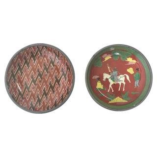 Neiman Marcus Porcelain & Pewter Bowls - A Pair