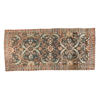"Vintage Distressed Mahal Rug Runner - 3'8"" X 7'10"""