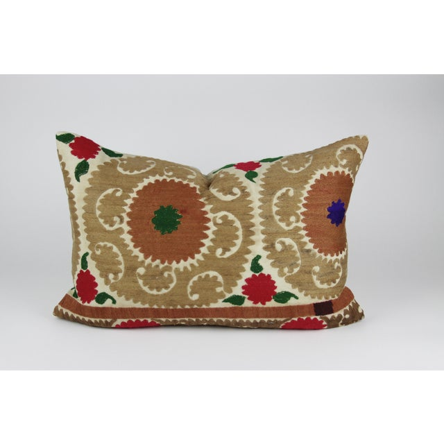 Brown Vintage Suzani Jewel Pillow - Image 3 of 3