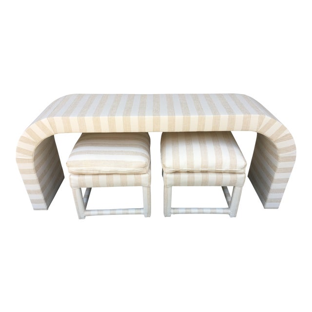 Vintage 1970s Waterfall Console Table - Image 1 of 11