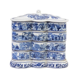 Blue & White Butterfly Shaped Stacking Box