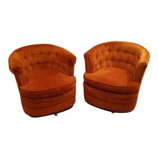 Drexel Heritage Burnt Orange Chairs - A Pair