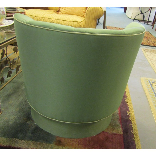 Image of Green Swivel Side Chair