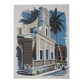Vintage Mark Coomer Screenprint, Jamaica