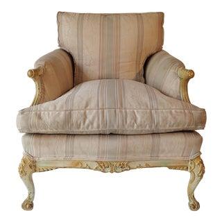 French Romantic Boudoir Style Chair Down Cushion 33H x 30W x 38D