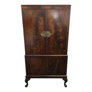 Flame Mahogany Bar Cabinet