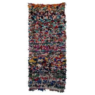 "Boucherouite Moroccan Carpet - 8' x 3'6"""