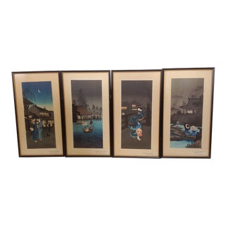 Japanese Hiroshige Prints- Set of 4