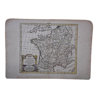 Antique 18th C. Map-France (Gaul)