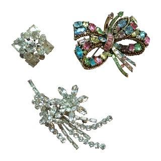 Vintage Rhinestone Pins - Set of 3