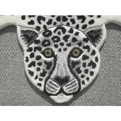 Modern Hand Tufted Leopard Skin Shaped Wool Rug - 4′6″ × 6′ - Image 3 of 5