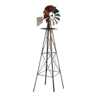 Folk Art Windmill Sculpture