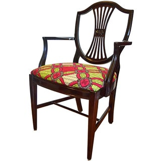 Antique-Style Shield Back Armchair