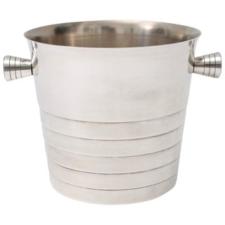 Art Deco Style Silver Plated Ice Bucket by Christofle, Paris, circa 1930s