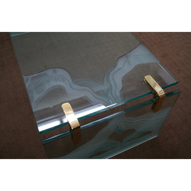 Custom Etched Glass Coffee Table - Image 10 of 10
