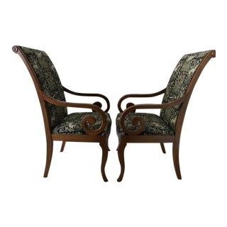 Upholstered Dining Arm Chairs- A Pair