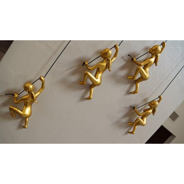 Climbing Man Girl Gold Wall Art - Set of 4 - Image 4 of 6