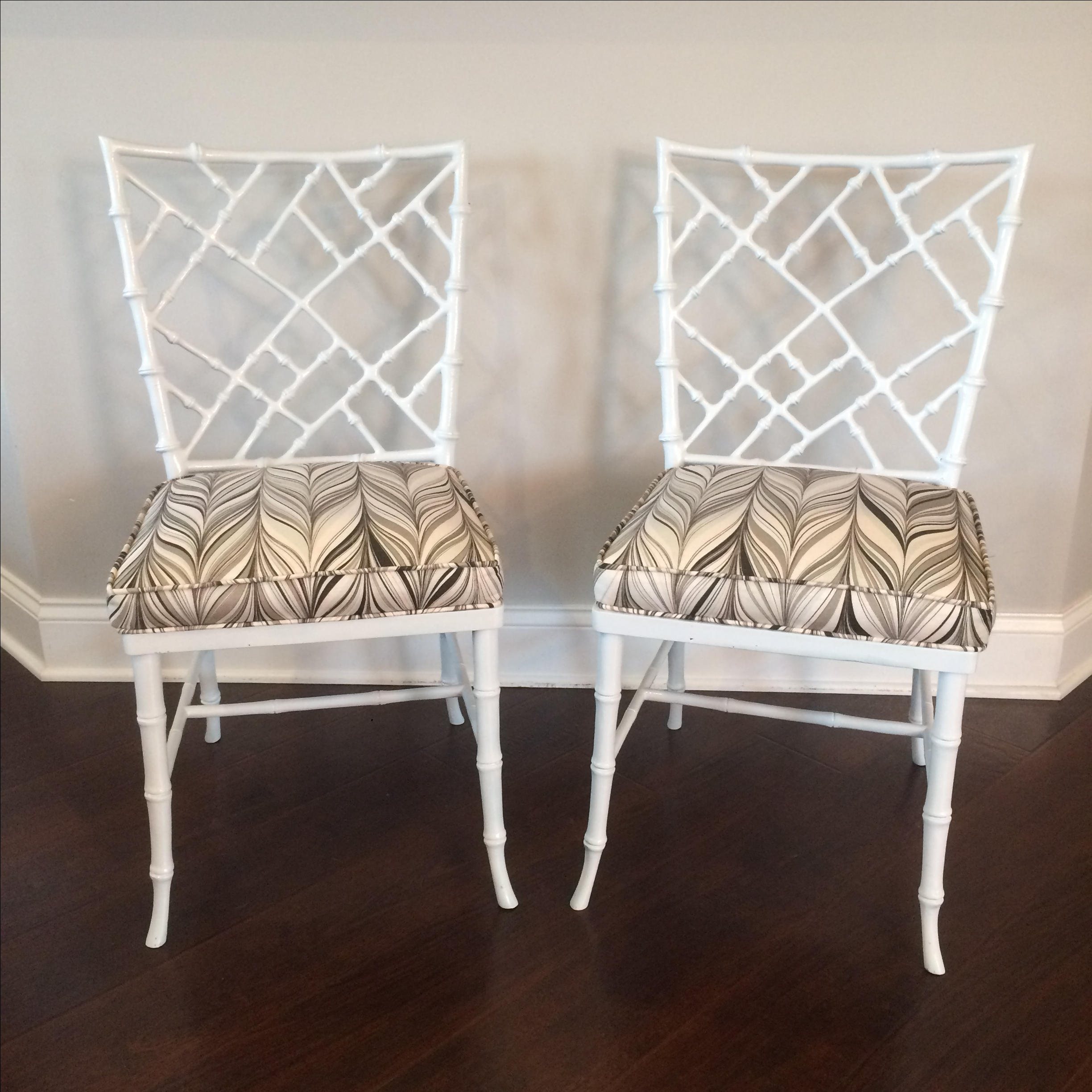Phyllis Morris Faux Bamboo Chairs   A Pair   Image 3 Of 5
