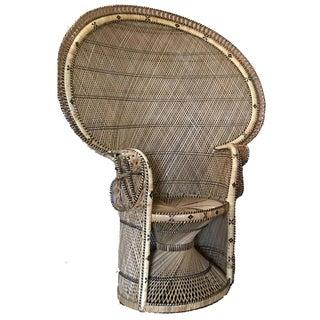 Vintage Rattan Fanback Chair