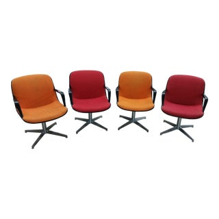 Charles Pollock Steelcase Office Chairs - Set of 4