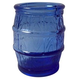 Cobalt Blue Barrel Shot Glass
