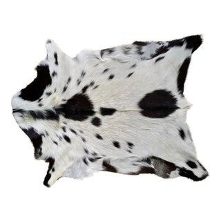 Black Spotted Goat Skin Rug - 2′3″ × 2′11″