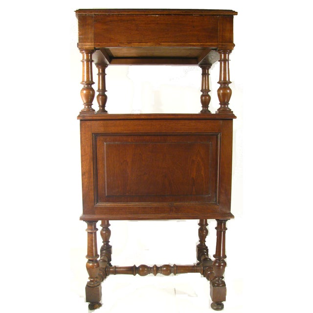 19th Century French Walnut Chevet Table - Image 4 of 5