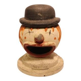 Large Vintage Carnival Clown Head Game