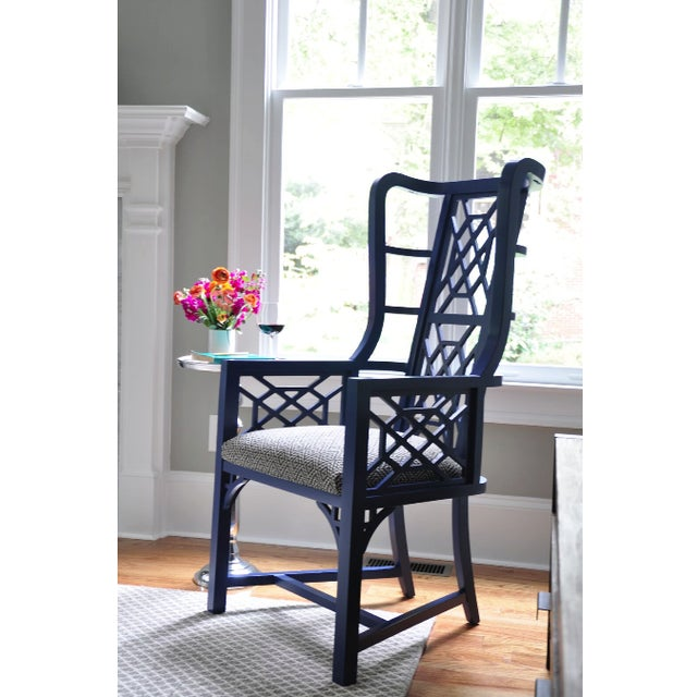 Taylor Burke Home Fretwork Accent Chairs - A Pair - Image 2 of 2