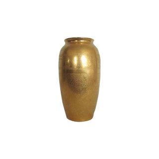 Embossed Pickard Gold & Porcelain Vase