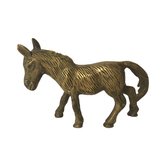 Image of Brass Donkey Figurine