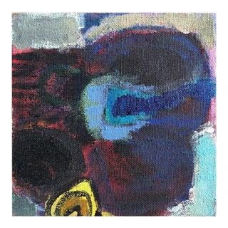 "Original Neicy Frey ""Hibiscus on Burlap"" Painting"