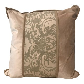 Fortuny Silk & Velvet Pillow