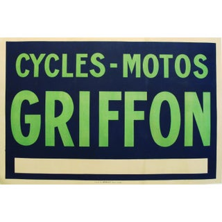 1900 Vintage French Griffon Cycling & Motorcycle Poster