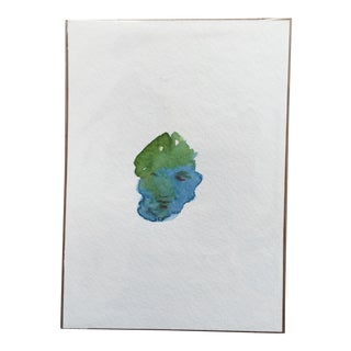 "Abstract ""Small Face"" Watercolor Painting"