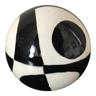 Vintage Abstract Pottery Paperweight