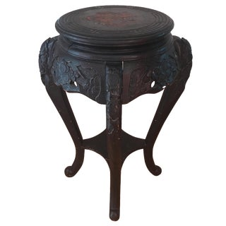 Vintage Asian Inspired Corner Stand/Table
