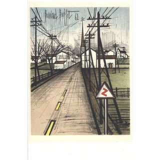 Bernard Buffet-The Road to the village-Poster