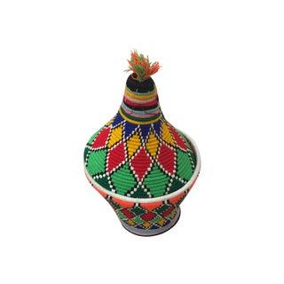 Colorful Moroccan Bread Basket