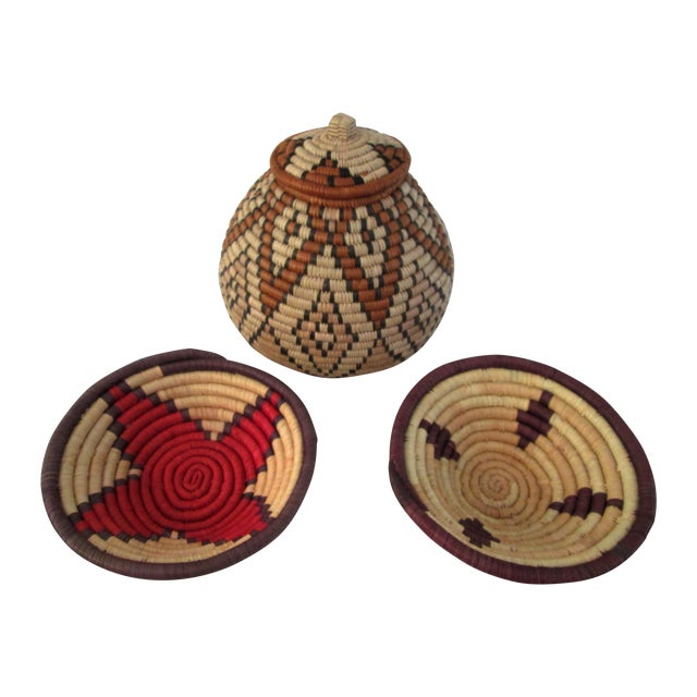 South African Baskets - Set of 3 - Image 1 of 8