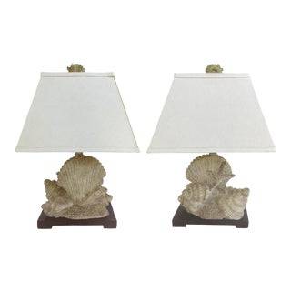 Seashell Table Lamps - A Pair