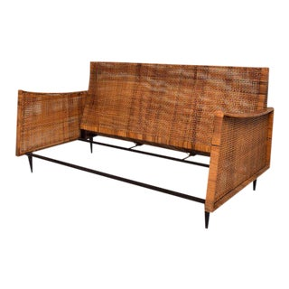 Mid-Century Modern Cane Loveseat Attributed to Arturo Pani