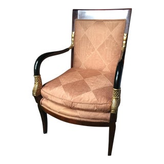 Neo Classical Charles X Style Dolphin Arm Chair by Century Furniture