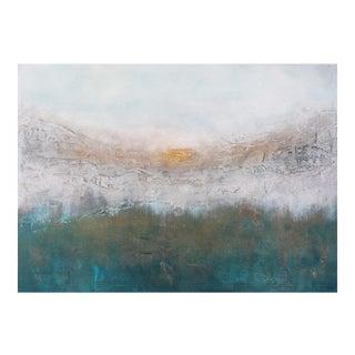 Aspen Sunrise Teal & Bronze Metallic Textured Abstract Original Painting